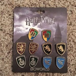 Bioworld Harry Potter Houses Earrings Set